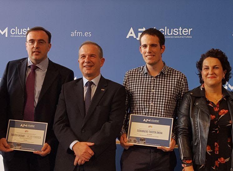 IK4-IDEKO galardonado con el premio de mejor ponencia en euskera en el Congreso de Máquina Herramienta