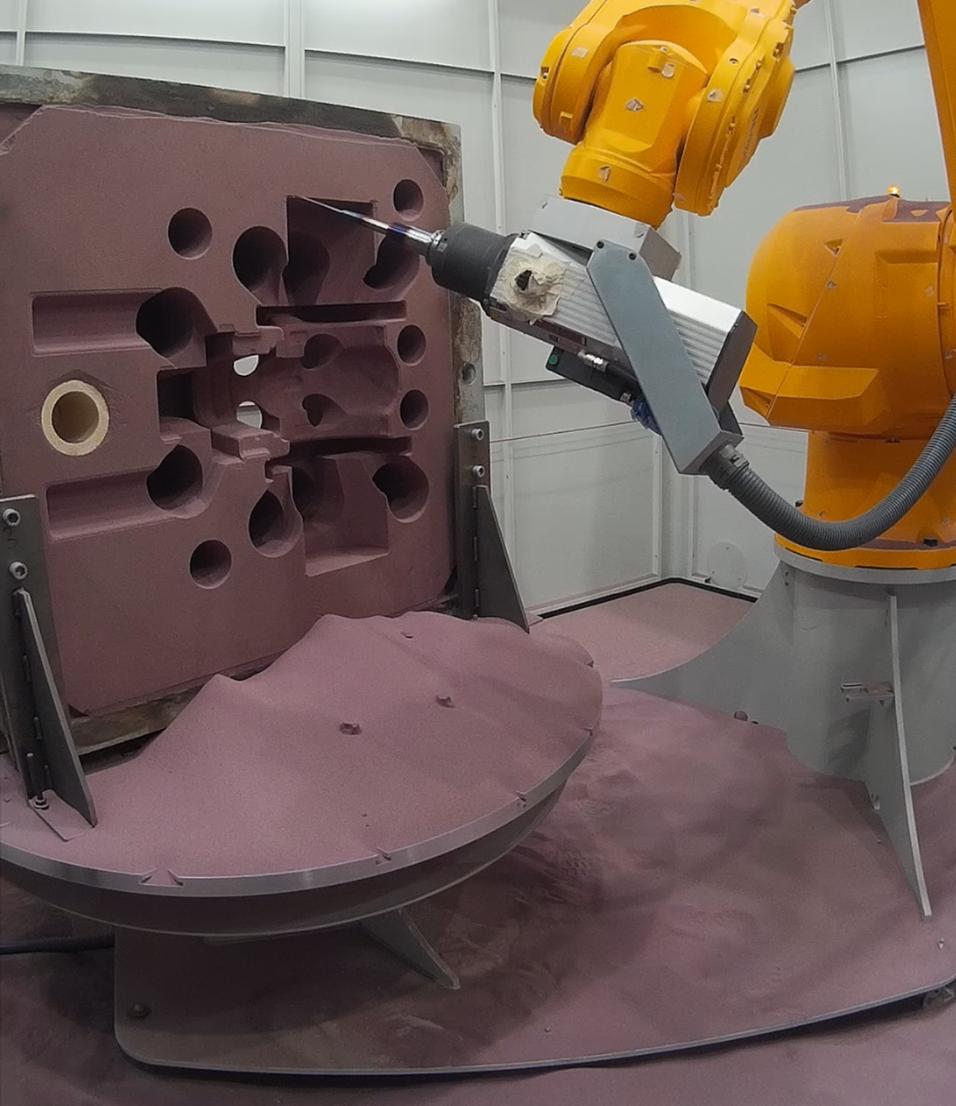 Galda, mecanizado de moldes de arena