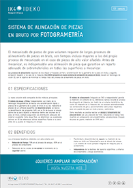 SISTEMA DE ALINEACIÓN DE PIEZAS EN BRUTO POR FOTOGRAMETRÍA