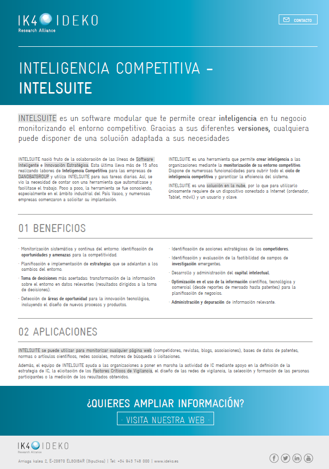 COMPETITIVE INTELLIGENCE - INTELSUITE